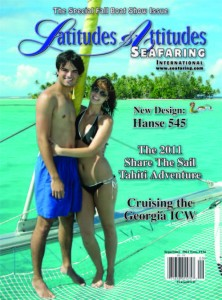 Tabitha & Chris on the Cover of Latitudes & Attitudes in Tahiti