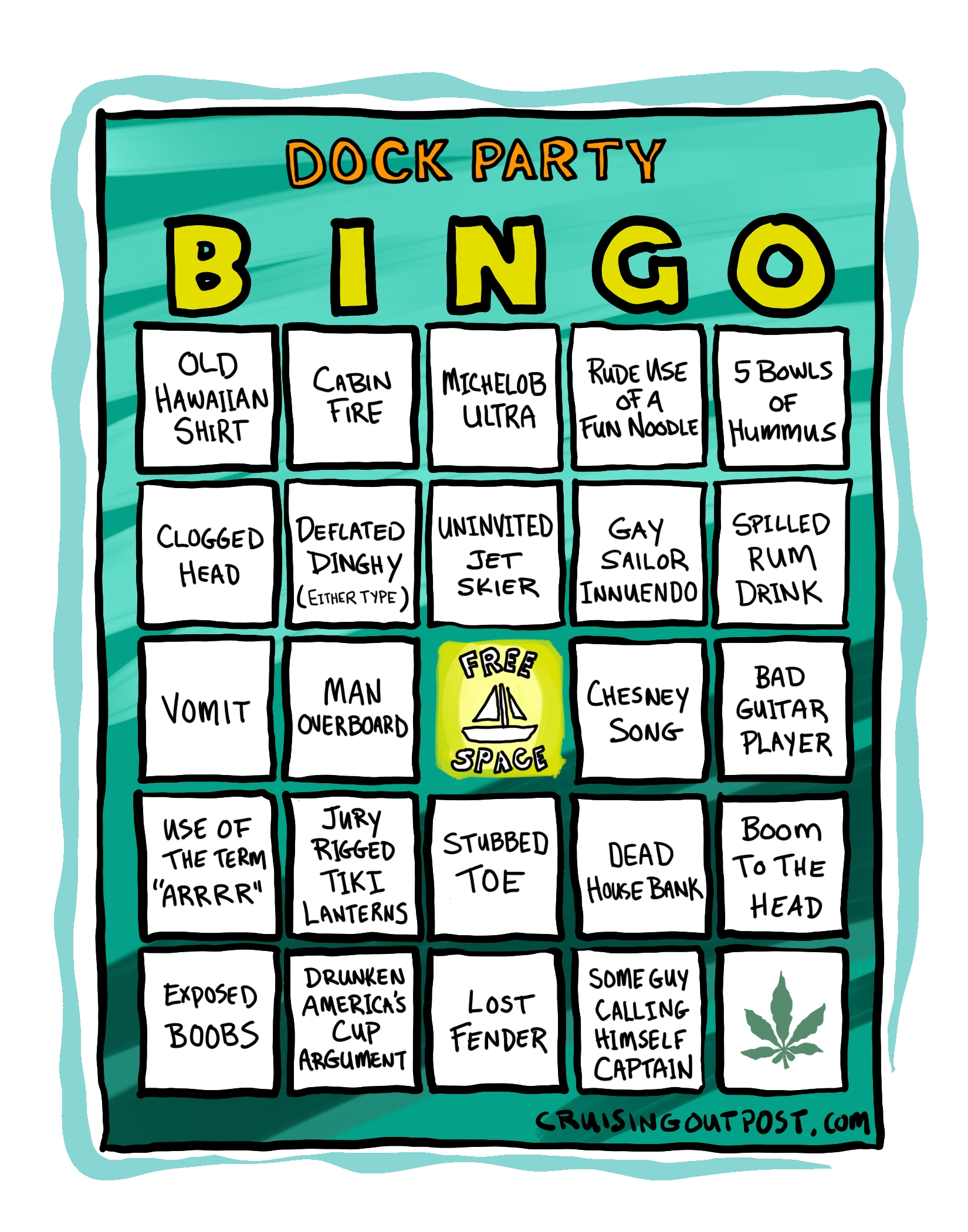 Dock Party Bingo Game