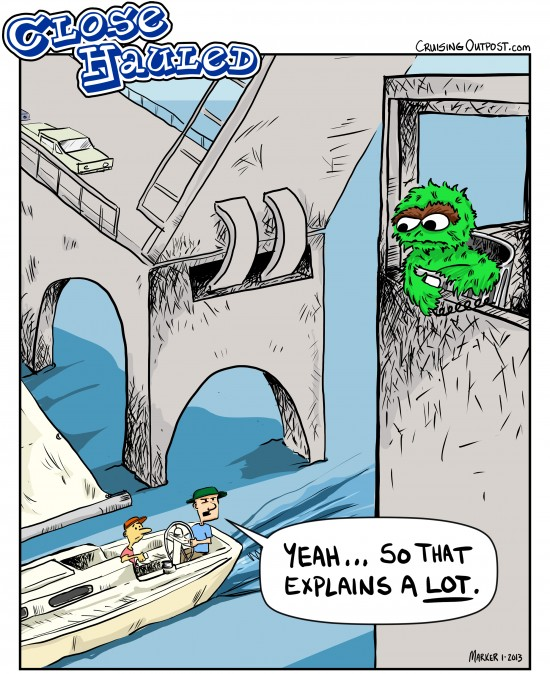 Oscar The Grouch Bridge Tender