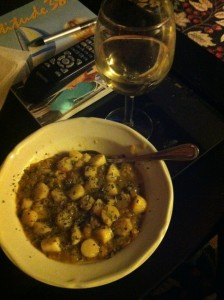 Red Lentils & Scallops Finished