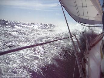 Offshore ocean sailing.