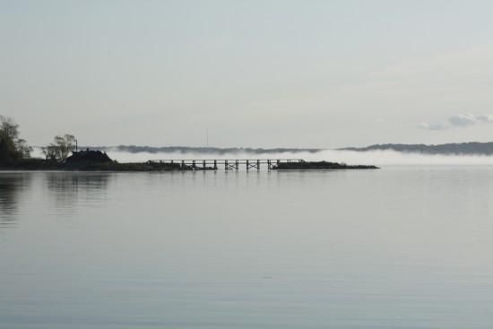 Cobb Island Maryland - early morning fog