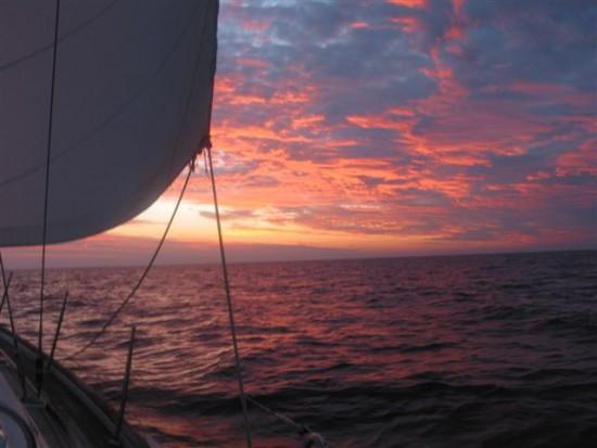 Sunset off Darwin headed south 2
