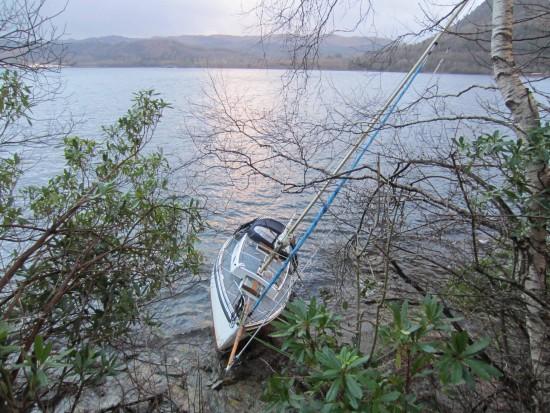 Boat wreck Christmas Eve'14, Inveraray Loch Fyne