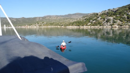Kayaking in the East anchorage, Kekova Roads